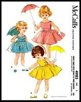 McCall's #4985 Fabric Sewing Pattern Girl's Dress Frock 3 Bodice Vintage 1 OR 4