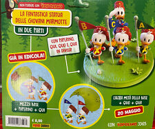 Disney TOPOLINO 3364+3365 STATUA GIOVANI MARMOTTE