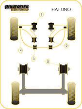 For Fiat Uno inc Turbo Powerflex BLACK Front Wishbone Bush Kit [4 bushes]