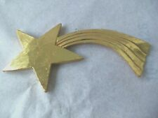 """Nativity Star for Manger! Gold Color! Shooting! Larger! 6"""" Wide! Replacement"""