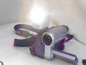 Vintage Original Sony HVL-FDH4 flash light for Handycam camcorder video camera