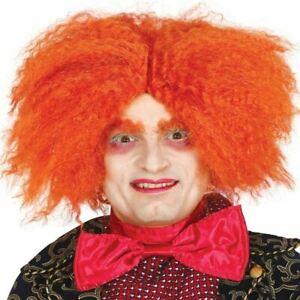 Orange Mad Hatter Style Wonderland Wig Fancy Dress Costume Accessory