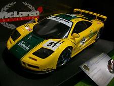 McLAREN F1 GTR #51 MACH ONE 3rd LE MANS jaune 1/18 UT MODELS 530151851 voiture