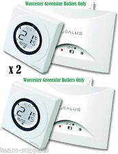 SALUS ST620WBC WORCESTER COMBI WIRELESS PROGRAMMABLE THERMOSTAT HEATING STAT X 2