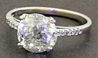 EGL USA 14K WG 3.15CT diamond wedding/engagement ring w/ 3.05CT ctr. size 6.75