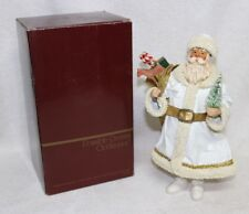 "CLOTHTIQUES by POSSIBLE DREAMS, Victorian White Suit Santa 10"", #713036 with Box"