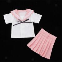 1/4 Pink Student Uniform Suit Outfit for BJD for Dollfie for DOD for MSD Dolls