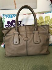 Tod ' S  Taupe Leather Shoulder Bag  Authentic Made In Italy