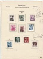germany 1955/56 democratic republic stamps page  ref 18748