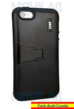 Funda Apple Iphone 5 - 5S / SE protectora / bumper con soporte negro negra