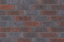 Strangpress Klinker-Riemchen NF-Format rot-blau-grau Riemchen Verblender