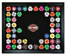 Harley-Davidson® Bar & Shield 76 Poker Chip Collectors Frame Wall Mount 6976D