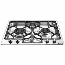 Smeg Classic PGF64-4 4 Burner Gas Hob-Stainless Steel