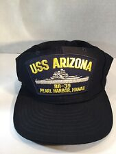 USS Arizona BB-39 Snapback Hat Navy Ship Pearl Harbor Hawaii