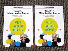 Pet Shop Boys The Super Tour 2017 Manchester Arena Promotional Flyers x 2