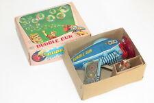 vintage Exelo tinplate toy bubble gun space toy raygun MIB Japan rare
