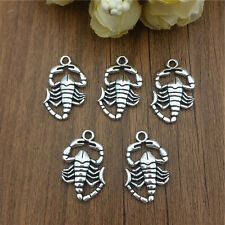 Wholesale 6pcs Scorpion silver Charm Pendant beaded Jewelry Findings DIY