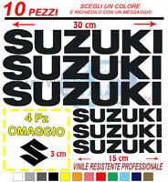 Kit 10 Pz Suzuki Adesivi Sticker  adesivi moto stickers 4X4 fuoristrada