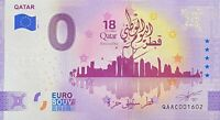 BILLET 0  EURO QATAR NATIONAL DAY  QUATAR ANNIVERSARY  2021   NUMERO DIVERS