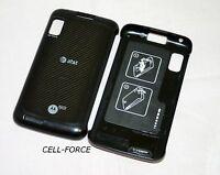 Used OEM Motorola Atrix 4G MB860 Black AT&T Replacement Battery Back Cover Door