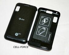 Used OEM Motorola Atrix 4G MB860 Black AT&T Replacement Battery Back Cover Door