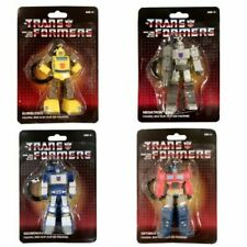 Transformers G1 Keychain Optimus Prime Megatron Bumblebee Soundwave Lot of 4 NEW