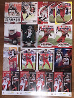 (21) MIKE EVANS MIXED FOOTBALL CARD LOT WITH RC CARD, INSERTS, & PARALLELS