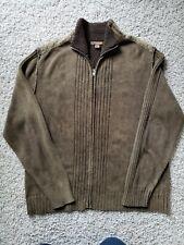 Men's Blue company ,Brown Casual 100%  Cotton Sweater,zipper,rib front