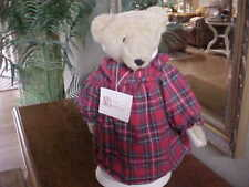 MUFFY VANDERBEAR ~ ALICE & STAND RED FLANNEL HOLIDAY RARE TUSH BEAR ALL ORIGINAL