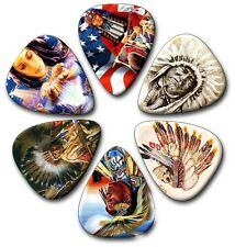 6 AMERICAN INDIANS ~ Guitar Picks ~ Plectrums ~ Printed Both Sides