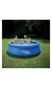 """Summer Waves 10'x30"""" Quick Set Inflatable Above Ground Pool w/ Filter Pump - NEW"""