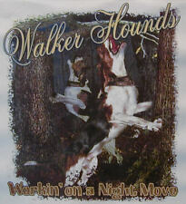ALL AMERICAN WALKER HOUND WORKING ON A NIGHT MOVE COONDOGS COON DOG SHIRT #503