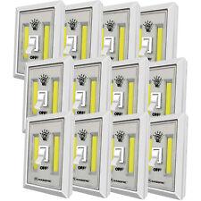 LED Night Switch Light, Brightest Portable 200 Lumen Cordless light Set of 12