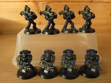 8 PLASTIC WARHAMMER NIGHT LORDS HEAVY BOLTERS ROCKET LAUNCHERS WELL PAINTED 1505