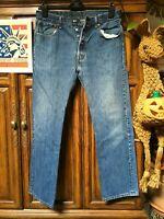 Levi's 501 Jeans Distressed Faded Hippie Boho punk Hobo Denim 32x31