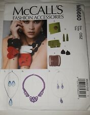 MCCALL'S PATTERN NECKLACES BRACELETS EARRINGS MADE WITH FABRIC # M6660