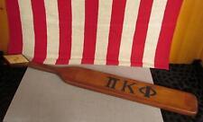 "Vintage 1969 Gamma Zeta College Fraternity Wood Paddle Hand Painted Frat 28"""