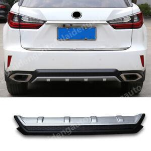 For Lexus RX350 2016-2019 Rear Bumper Lip Diffuser Spoiler Guard Cover trim