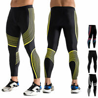 Men's Compression Tights Sports Athletic Long Pants Quick-dry Baselayers Black