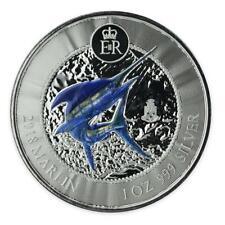 2018 1 oz Cayman Islands Marlin .999 Silver PROOF Coin - Color w/ Privy Mark