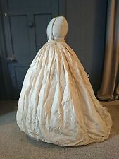 Voluminous 1860s Silk Crinoline/ Hoop Skirt - Victorian Antique Fashion