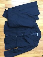 Ann Taylor Womens Pants Suit Size 6 Navy Blue Pin Stripe Wear To Work Two Piece