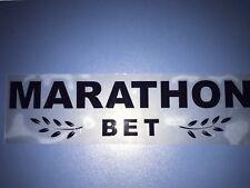 riproduzione sponsor MARATHON BET lazio - napoli x maglia macron nuovo new
