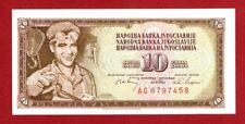 YUGOSLAVIA 10 DINARA 1968 CRISP UNCIRCULATED BANKNOTE