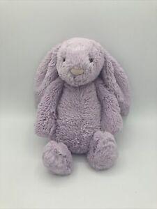 "Jellycat Small Bashful Lilac Bunny Plush Soft Stuffed Purple 9"" Lovey Lavender"