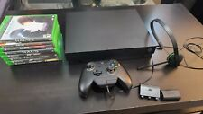 Microsoft Xbox One X with games, headset rechargeable batteries 4k