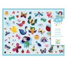 Djeco Sticker Set Puffy 3D Sticker 120 Stück Kleine Flügelwesen Schmetterlinge V