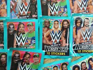 25 x Topps WWE Road To Wrestlemania 10 Stickers Per Pack 20/21