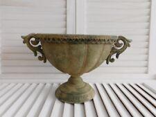 Trends & Trade Blumen Pokal Vase Grün Antik Metall