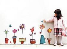 Home RoomPot Plant Flower Butterfly Window Wall Stickers DIY Art Decals Vinyl Z
